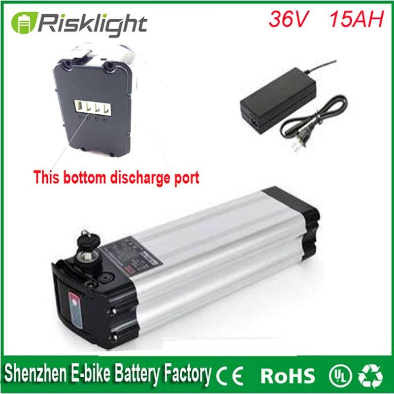 Дно разряда 36 В <font><b>15ah</b></font> Электрический велосипед литий-ионный аккумулятор 36 В 500 Вт ленты рыбы батарея с 18650 клетка + зарядное устройство