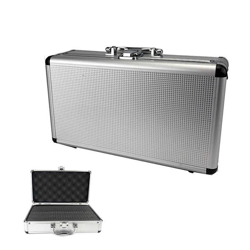 300*170*95Mm Aluminium Toolbox Draagbare Instrument Box Storage Case Koffer Reizen Bagage Organizer W Voering Zilver