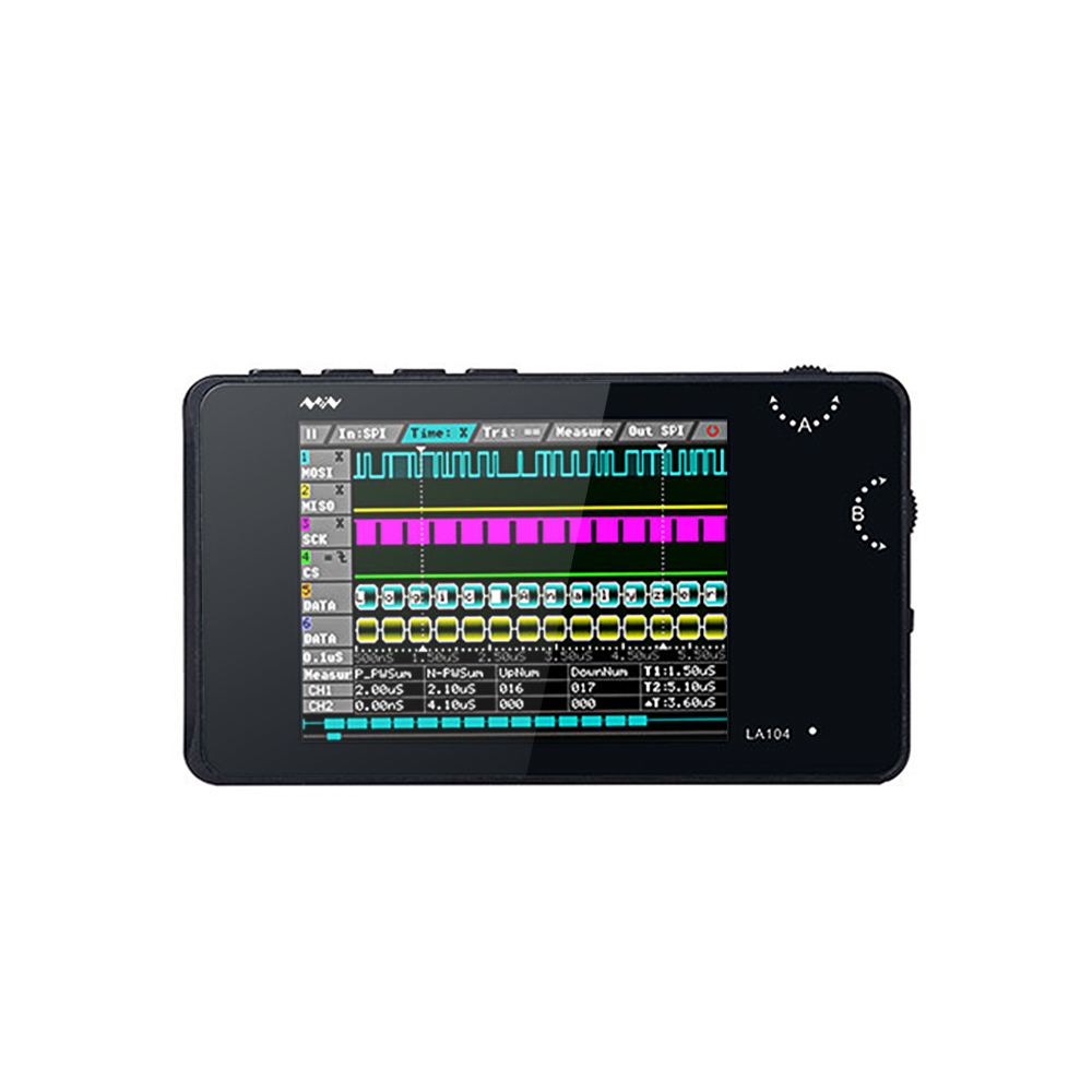 "DSO LA104 Digital Logic Analyzer Portable 2.8"" Screen 4 Channels Oscilloscope SPI IIC UART Programmable 100Msa/s Max"
