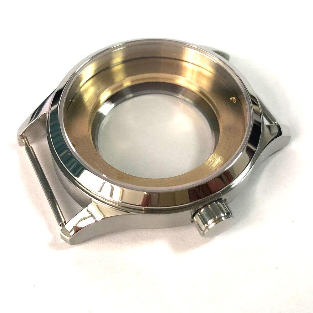 42mm saphir verre poli 316L boîtier en acier inoxydable pour montre fit ETA 2836 2824 MIYOTA 8215 821A mouvement