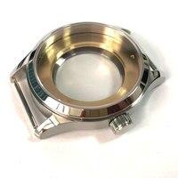 42mm vidro de safira polido 316l aço inoxidável assista caso apto eta 2836 2824 miyota 8215 821a movimento