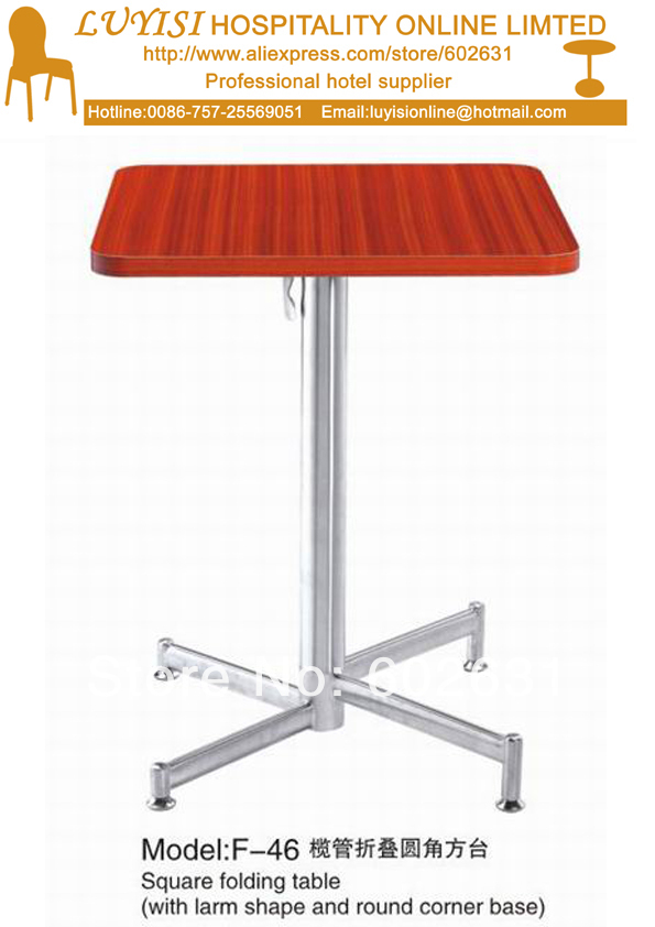 Cocktail Coffee Square Folding Table,stainless Steel Base,MDF Top,kd Packing 1pc/carton,fast Delivery