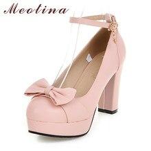 759a981c1 Meotina Sapatos de Salto Alto Sapatos de Casamento Das Mulheres Bombas de Salto  Alto Plataforma com