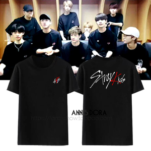 Stray Kids Logo Bang Chan Design Practice Room with the same style Team uniform Short-sleeved T-shirt