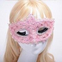 Más nuevo Encaje Máscaras mascarada Encaje mujeres para el partido, baile, baile, máscara del carnaval danza caliente Máscaras Accesorios 10 colores