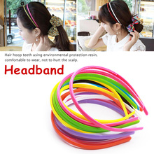 Candy Color Headband Head Buckle Wide Section 1 Piece Sweet Sale Face  Plastic Accessories Korean Version