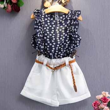 LZH Children Clothing 2018 Summer Baby Girls Clothes T-shirt+Shorts 2pcs Outfits Kids Clothes Girl Sport Suit For Girls Clothing conjuntos casuales para niñas