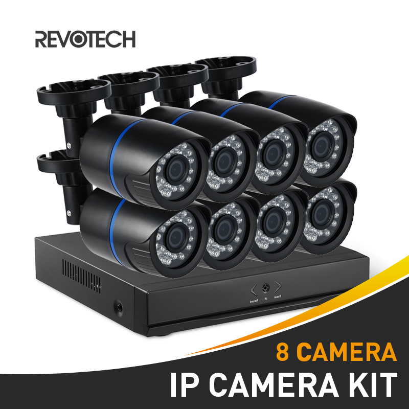 8CH 1080P CCTV IP Camera System Kit HD 8 Channel NVR 8PCS Waterproof 1920x1080P 2.0MP Bullet Security Camera Surveillance Camera-in Surveillance System from Security & Protection