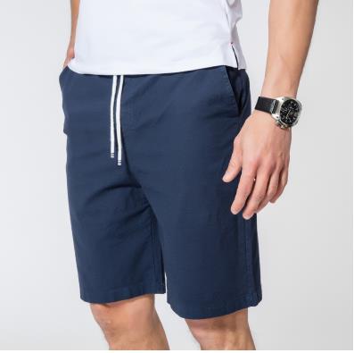 Мужские летние плюс Размеры эластичный пояс середине Повседневное Капри прямого кроя человек дышащий Лен свободные штаны Для мужчин более Размеры d обтягивающие брюки - Цвет: 3