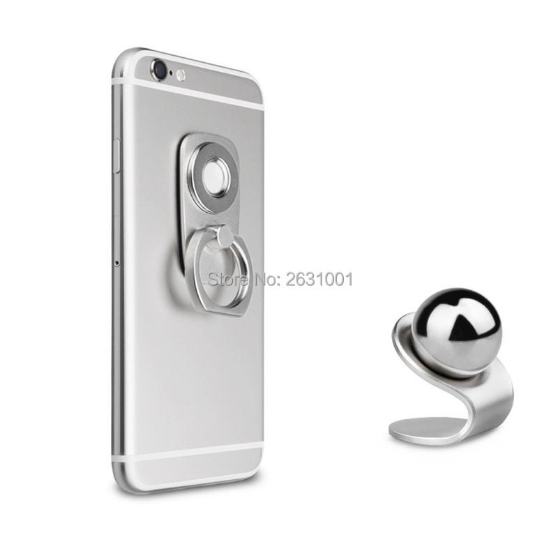 car finger ring phone holder silver1
