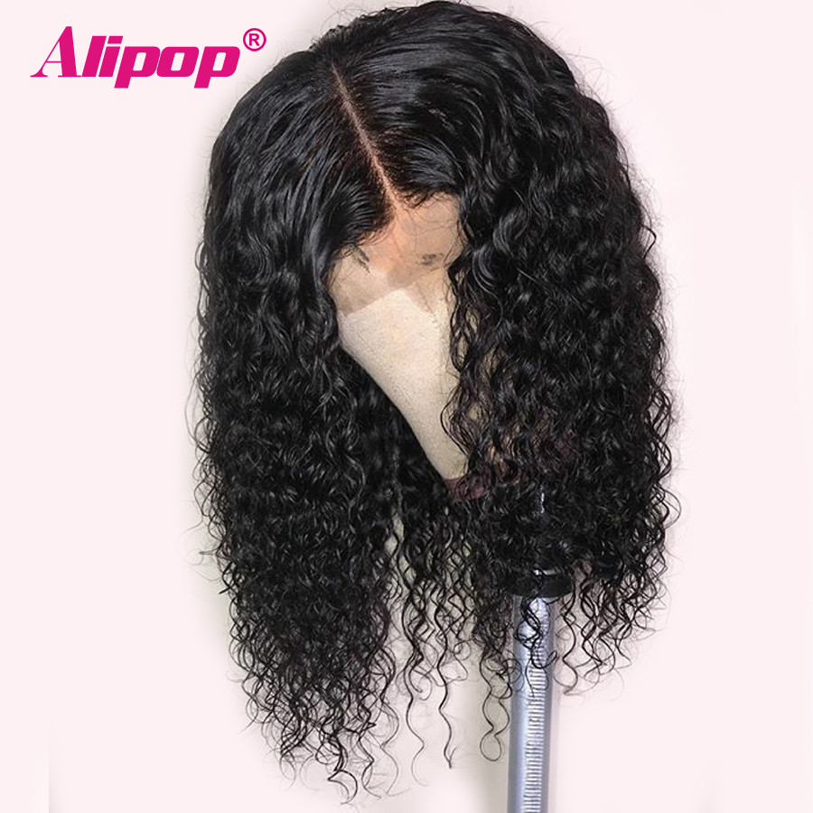13x6 Malaysian Curly Bob Wig Glueless Short Lace Front Human Hair Wigs ALIPOP Remy Pre Plucked