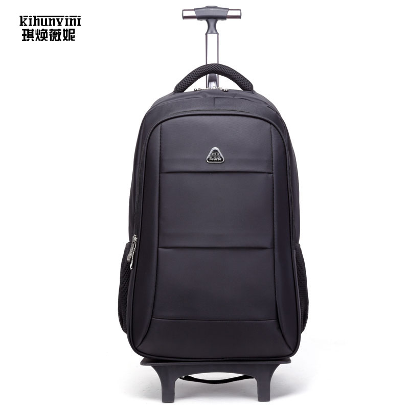 High End Travel Trolley Backpack Luggage Luxury Wheeled Carry-on Large Capacity Detachable Trolley Bags Laptop Bag Pack Big Re travel bag 3d print lion rivets back pack teenagers large capacity high quality pu schoolbag laptop backpack casual rucksack