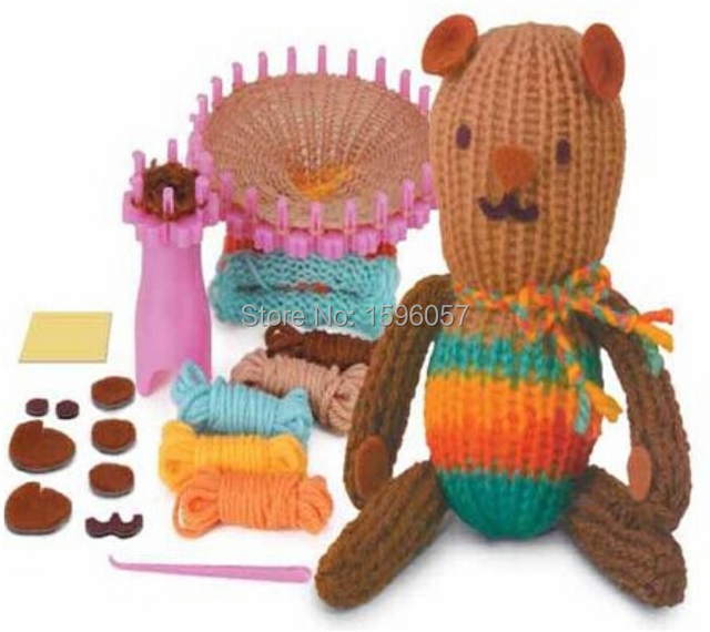 Handmade Weaving Teddy Bear Doll Utilities Diy Quick Easy Knit Loom