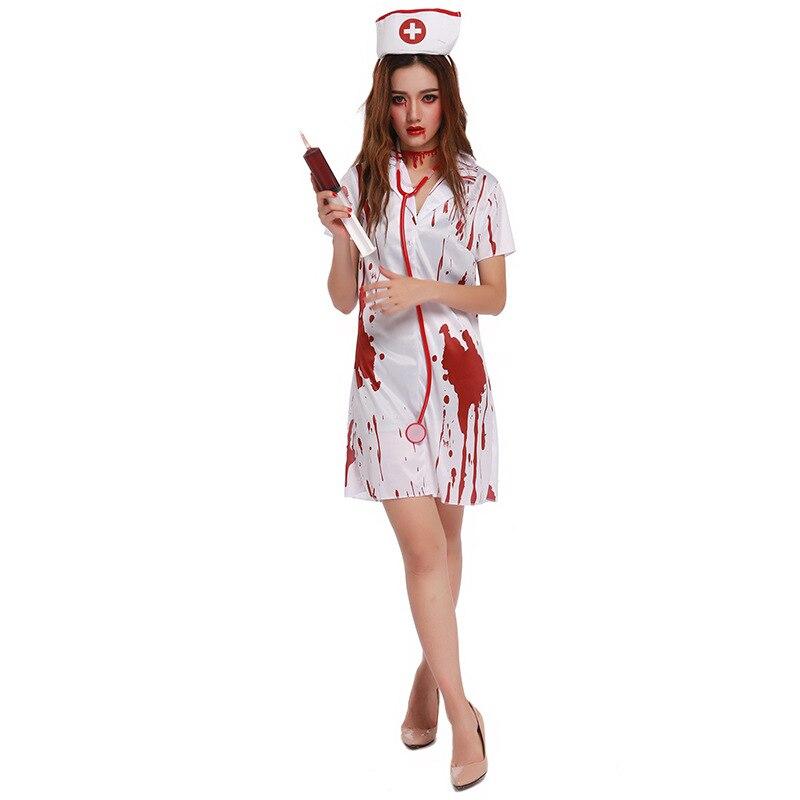 Enge Kostuums Halloween.Us 22 49 10 Off Nieuwe Halloween Verpleegster Kostuum Vrouwen Vrouwelijke Jurk Cosplay Enge Kostuums 88664 In Enge Kostuums Van Nieuwigheid