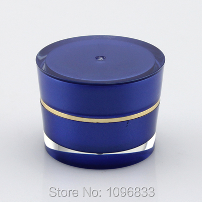 50pcs/Lot, 5G Acrylic Box Blue Color Cone Shape, Empty Cream Container, 5G Blue Jar, Cosmetic Sample Packing Jar High Quality