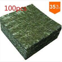 100 шт суши нори морские водоросли Фабрика AAA Качество, темно-зеленый вторичный выпечки Нори Суши algues, топ продаж Нори Суши