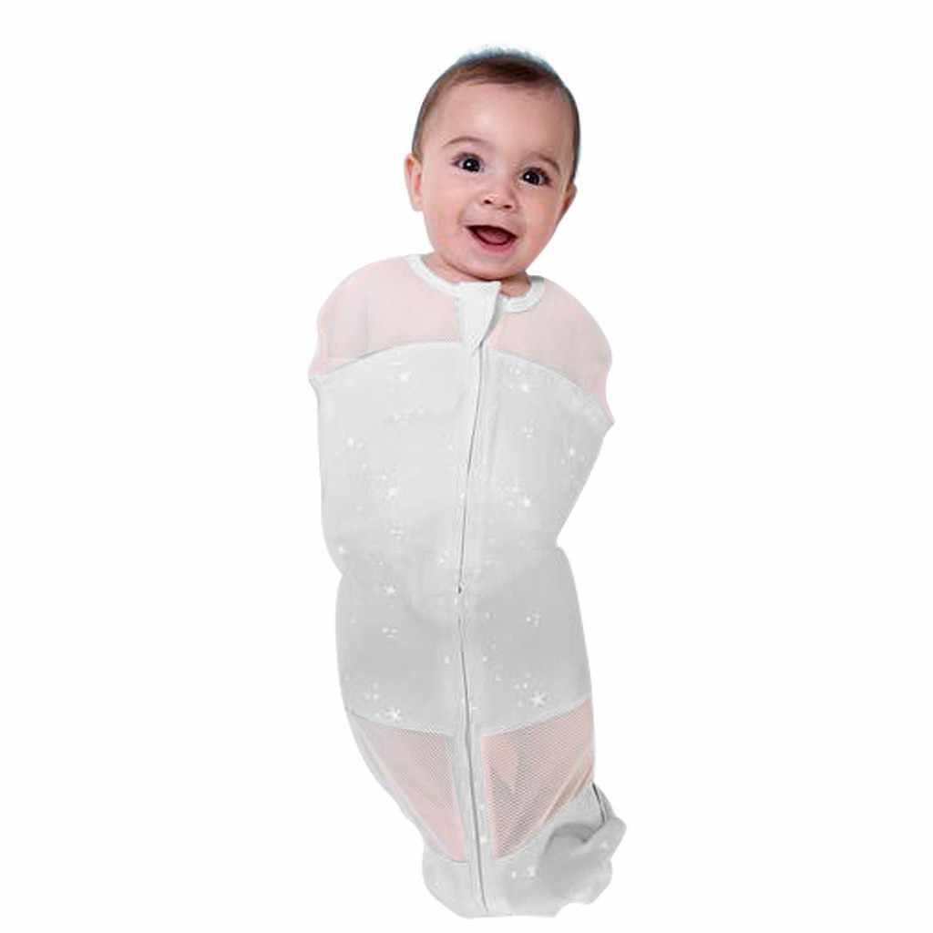 Спальный мешок для новорожденных, хлопковое детское одеяло для сна с акулой, сумка на лето и весну, мягкие спальные принадлежности с цветами, постельные принадлежности