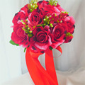 Бесплатная доставка Красоты Уникальный Новый Arival Свадебные Букеты 2016 Свадебные Букеты buque де noiva Моделирования Цветы