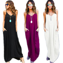 Fashion Women Summer Boho Casual Long Maxi Dress Sexy Beach Dresses Sundress