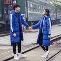 Новый 2016 моды сплошной цвет долго дизайн ватные зимняя куртка мужчины плюс размер 5xl куртка мужчины манто homme мужская одежда/MDY1