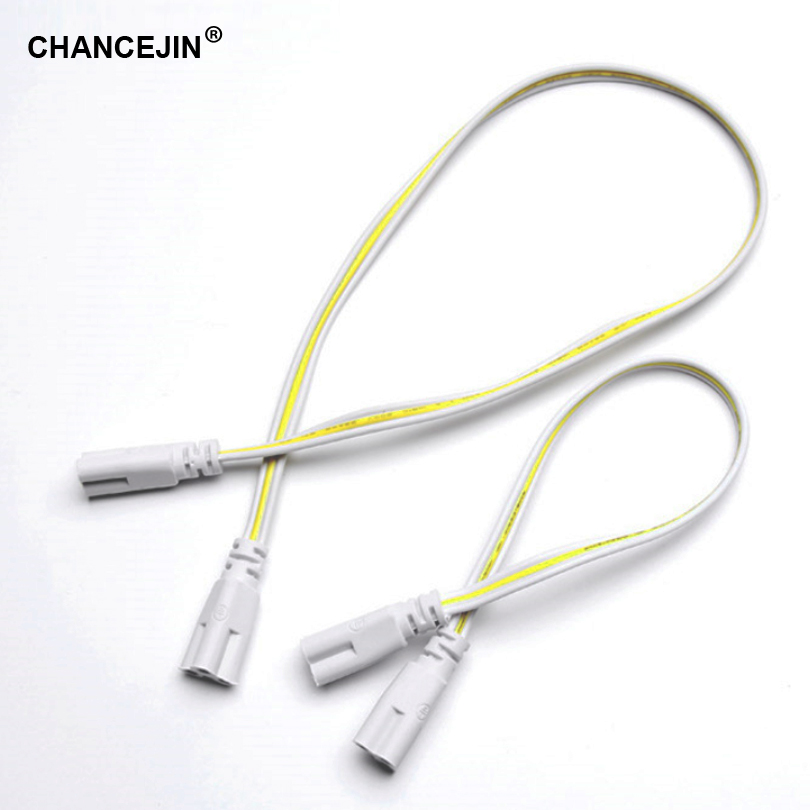 2 Pin T4//T5//T8 Figure-8 LED Connector for LED Tube Lamp Lighting 30cm