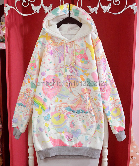Colorful Kawaii Fairy Kai Hoodie