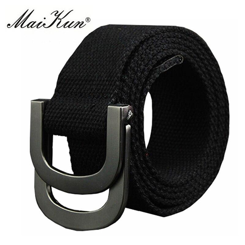 Casual Men's Canvas Belts For Man Women Strap Tactical Belt For Military Jeans Double Ring Buckle Belts Cummerbunds