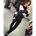 Women 2Pcs Tracksuit Crew Neck Hoodies Sweatshirt Pants Set Wear