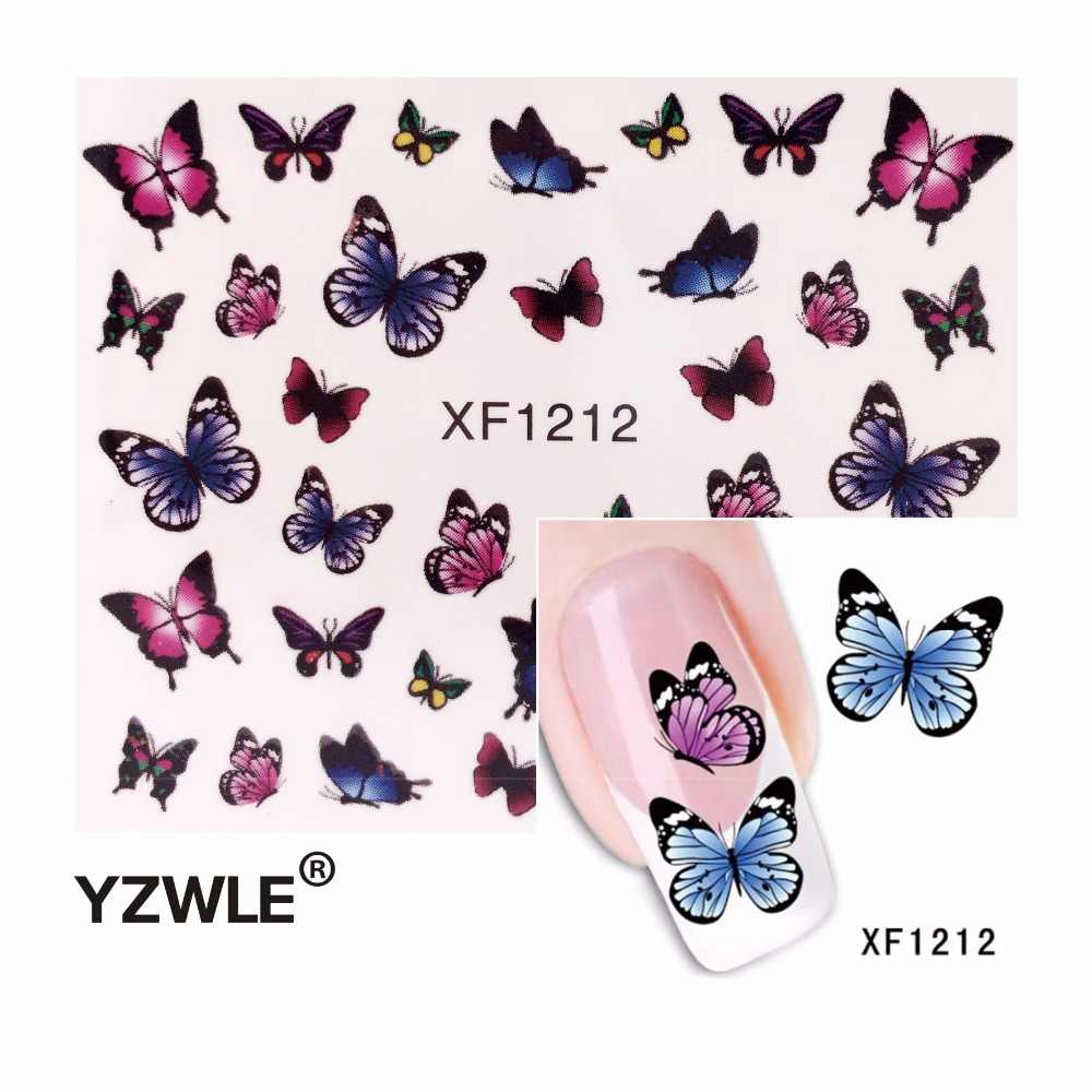 YZWLE Fashion Cute DIY Nail Watermark Butterflies Tip Nail Art, Nail Sticker & Decal Manicure Nail Tools