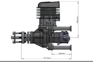 Image 5 - DLE55RA מקורי RC מטוס מנוע בנזין צילינדר יחיד שתי פעימות פליטה טבעי רוח מקורר יד להתחיל 55CC עקירה