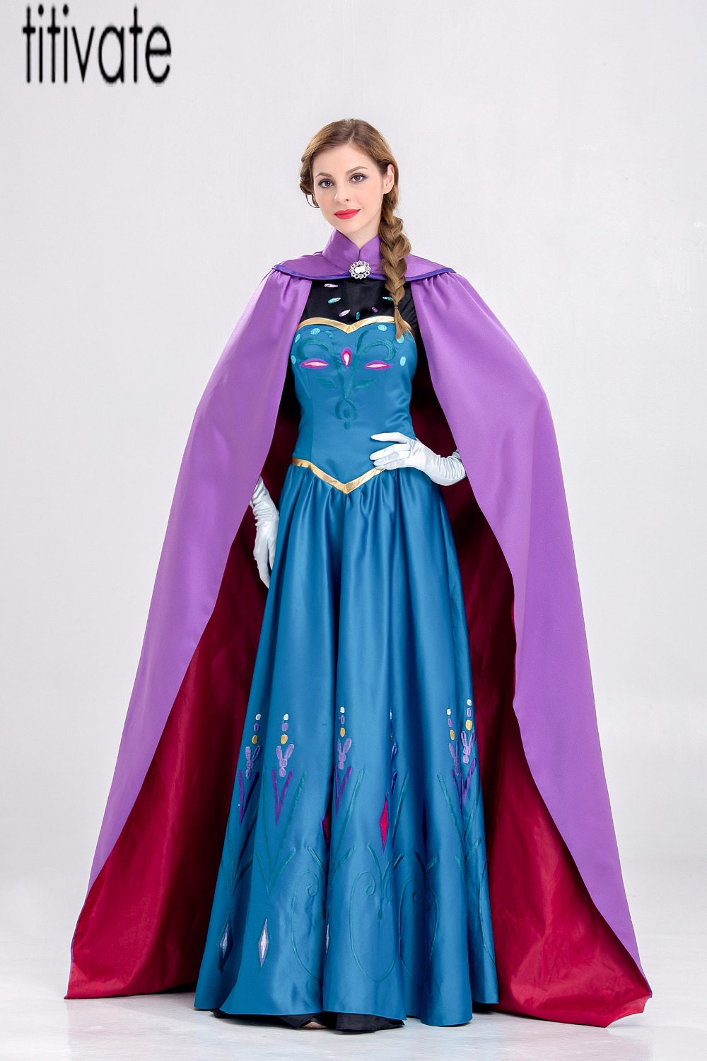 TITIVATE New Snow Queen Princess Anna Costume Hen Party Cosplay ...