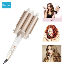 Kemei Professional hair care & styling tools Curling hair curler Wave Hair styler curling irons Hair crimper krultang iron   5