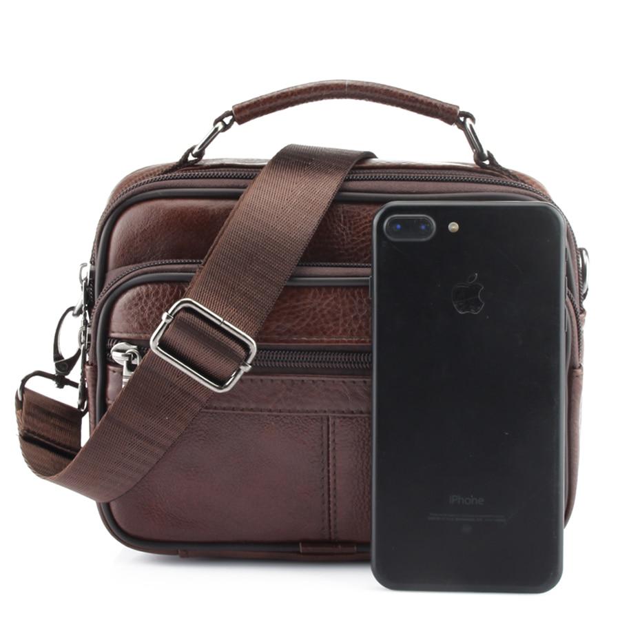 2020 Genuine Cowhide Leather Shoulder Bag Small Messenger Bags Men Travel Crossbody Bag 10