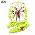 2017 autumn winter Baby Boys clothes set tracksuits Spider Man Suits Infant Clothing Set Kids Vest+T Shirt+Pants Children Suits