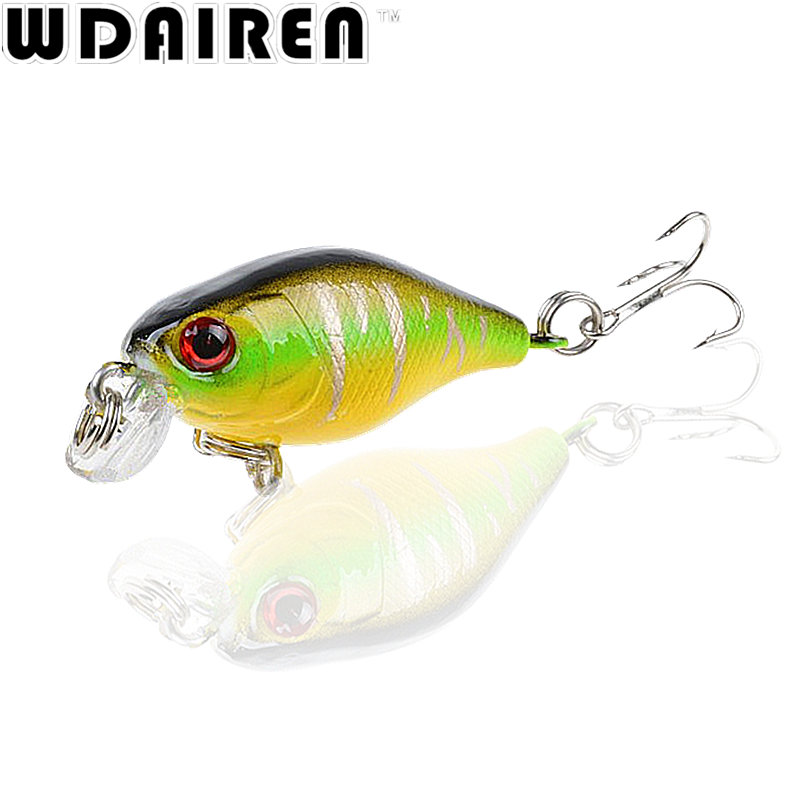 1Pcs 4.5cm 4g Crank Fishing Lures Hard Bait Minnow Fishing Lure Bass Crankbait Swimbait Trout Baits with 10# hooks Tackle 3d minnow night plastic fishing lure crank bait hooks bass fish crankbait tackle y089