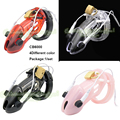 2016 New Electric Shock Male Chastity Device CB6000 Belt Penis Lock Plastic Penis Sleeve Cock Cage Sex Toy