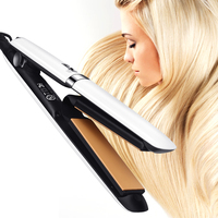 2018 New Fashion Flat Iron Plated 2 In 1 Hair Straightening And Curling Iron Hair Curler