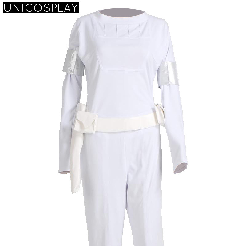 Star Wars Padme White Shirt Pants Cosplay Costume Woman fancy Dress Party Hallween outfit for Girls