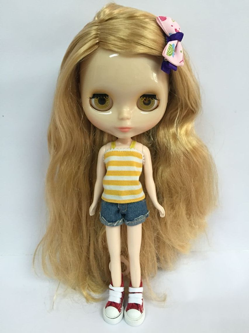 Mixed red hair Nude blyth Doll Factory doll Suitable For