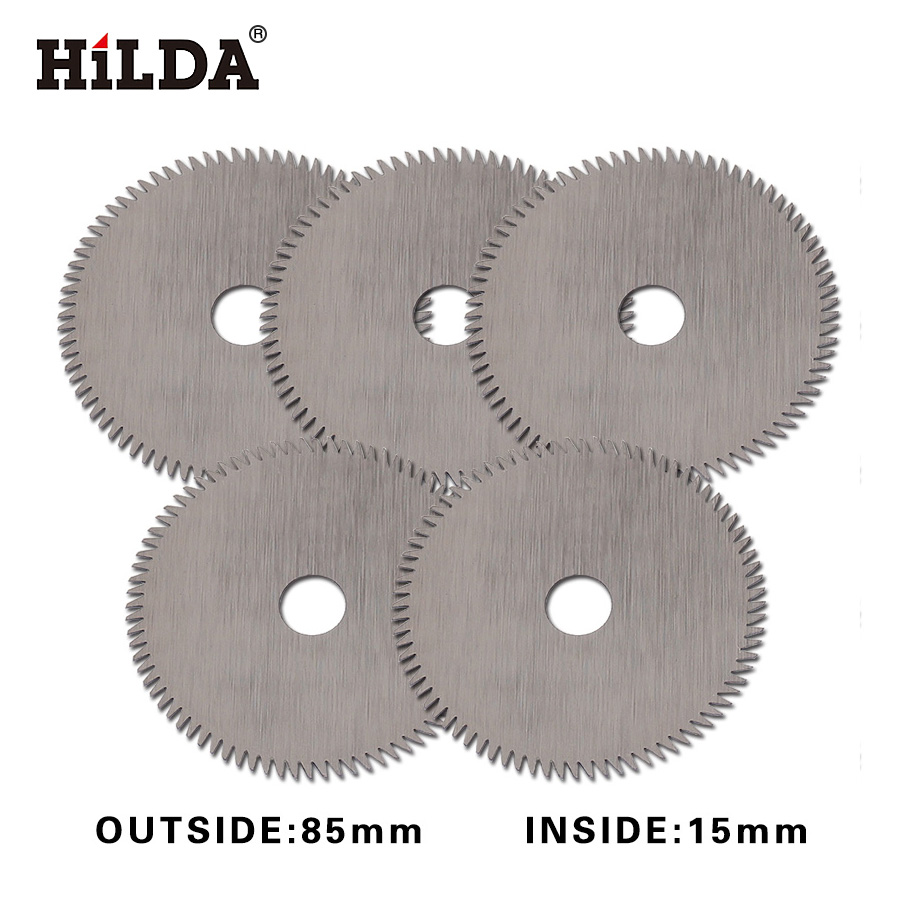 HILDA Mini Circular Saw Blade 80 T For Wood Cutting Power Tool Accessories Circular Saw Blade Mini Saw Inside 85*15mm 5pcs