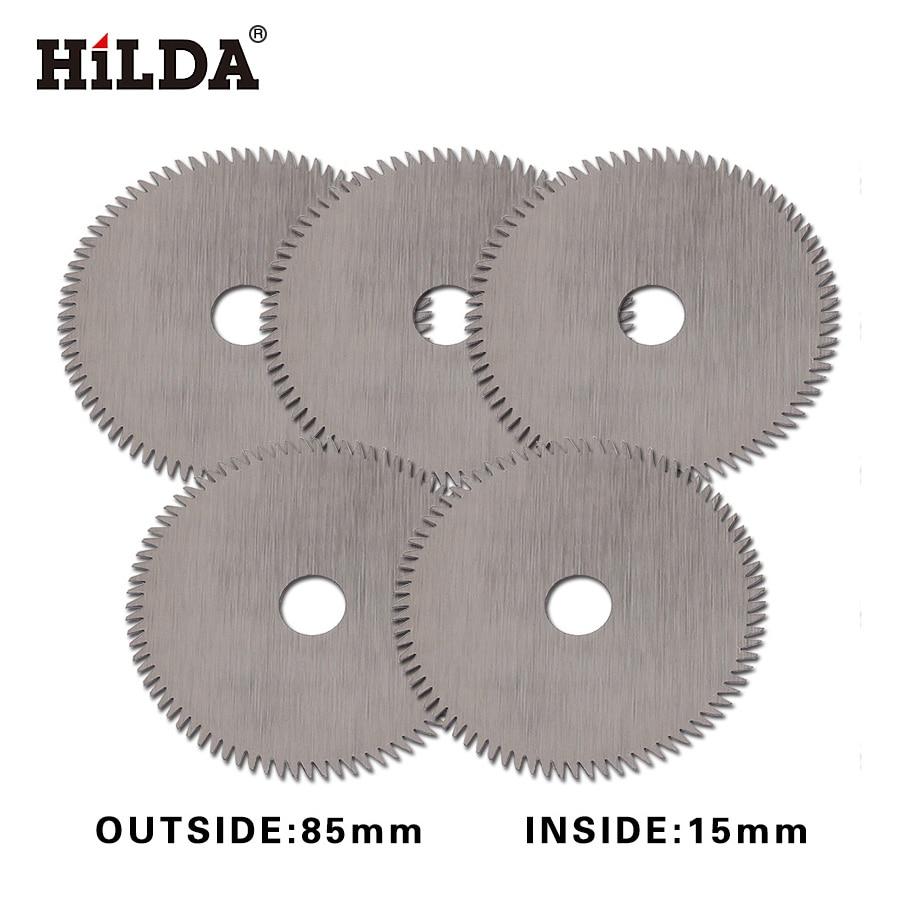 HILDA Mini Circular Saw Blade 80 T For Wood Cutting Power Tool Accessories Circular Saw Blade Mini Saw Inside 85*15mm 5pcs