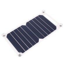 Venta caliente Portátil de 5 V de Carga Solar Panel Cargador USB Para Smartphone Del Teléfono Móvil iPhone Samsung