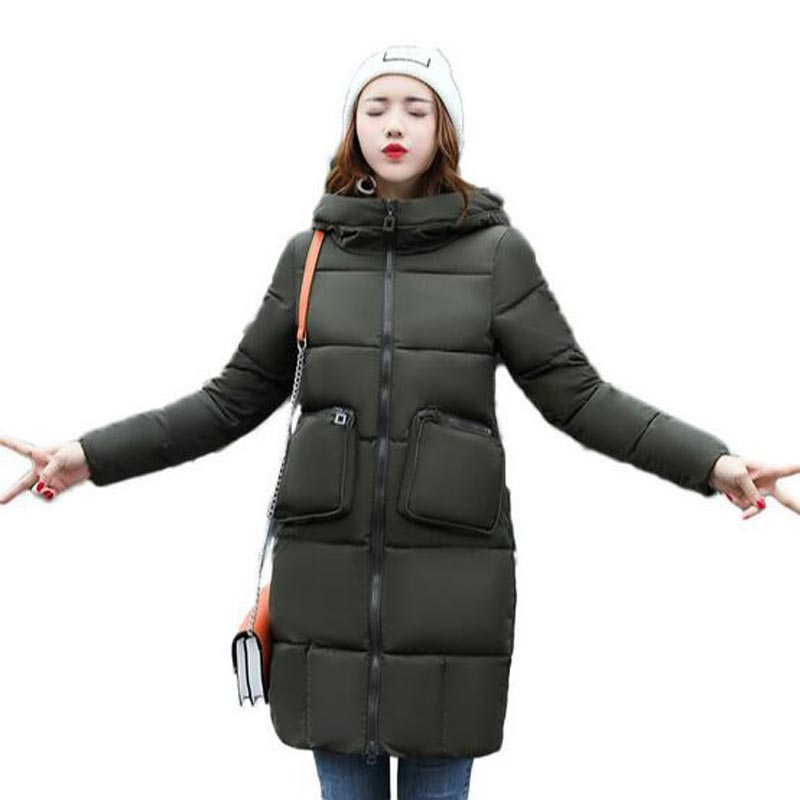High Quality Woman Parka Winter Jacket long Coat with Hood Women Warm down Cotton Coats Hot Sale New Winter Collection QH0385 new style women white down jacket with hood slim long parka padding polyester fashion long jackets with belt cotton coat women