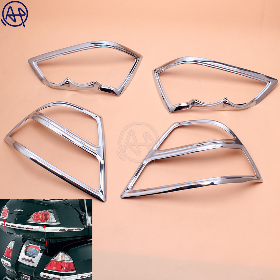 Motorcycle Chrome Fairing Saddlebag Light Accents for Honda Goldwing 1800 GL1800 2001-2011 02 03 04 05 06 07 08 09 10 Left righMotorcycle Chrome Fairing Saddlebag Light Accents for Honda Goldwing 1800 GL1800 2001-2011 02 03 04 05 06 07 08 09 10 Left righ