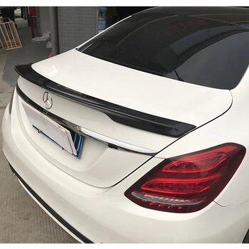 Mercedes W205 Spoiler C180 C200 C250 C300 C350 C400 C450 C220 4 Kapı 2015 2016 Karbon Fiber Arka Bagaj spoiler