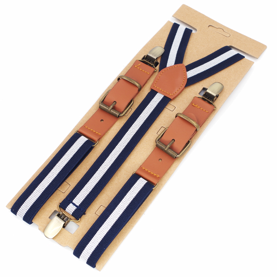 New Man's Suspenders Fashion Woman Braces Strong 3 Clips Boy PU Suspenders Trousers Suspensorio Elastic Strap Size 2.5*115cm