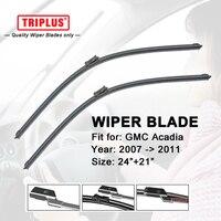 Wiper Blade For GMC Acadia 2007 Onwards 1set 24 21 Flat Aero Beam Windscreen Wiper Frameless