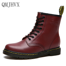 Botas Women Motorcycle Martin Boots Genuine Leather Lace Up Shoes Autumn Winter Oxford Shoes Woman high heels Combat Boots стоимость
