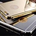 Для iphone Случае Bling Зеркало Металлический Каркас Акриловая Задняя Крышка Для apple iphone 5 5s se/5c/6 6 s/6 плюс 6 s plus/7 7 Плюс Shell