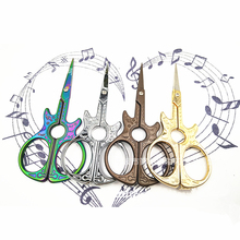Vintage Craft Sewing Tailor Scissors Guitar Pattern Dressmaker Shears for and Needlework Tools,Q